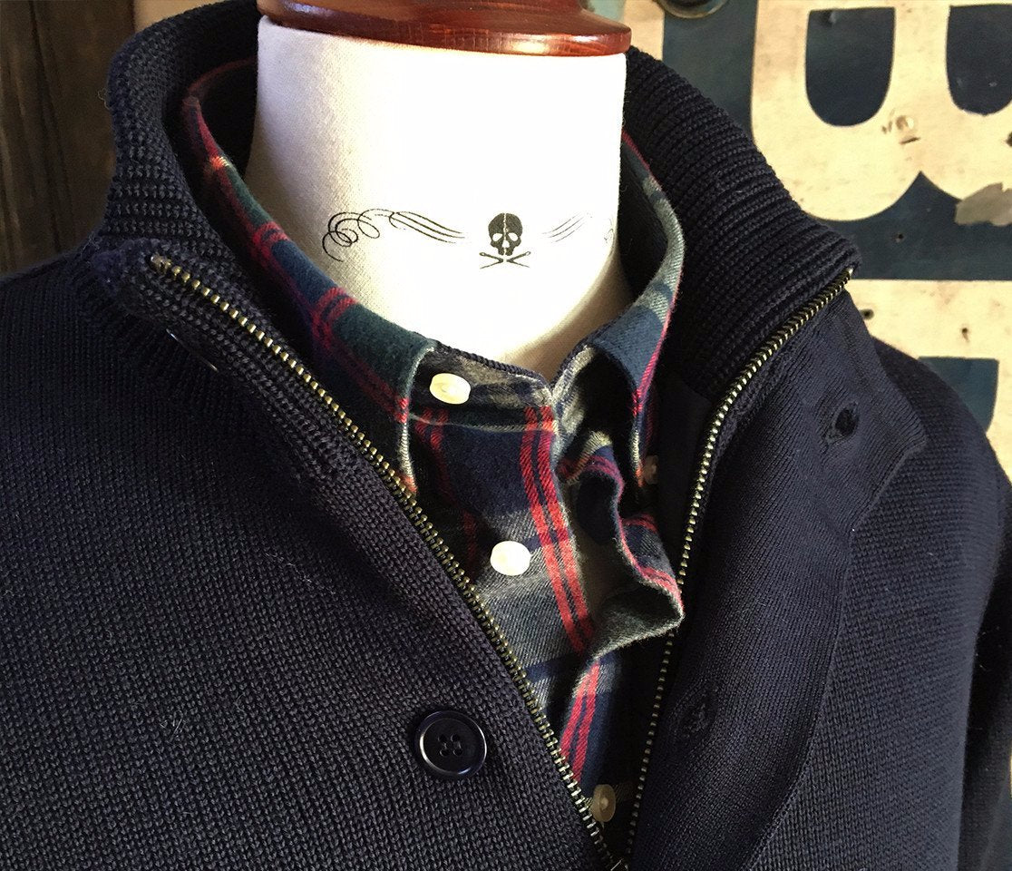 Men's Barbour | Falconer Button Through | Navy