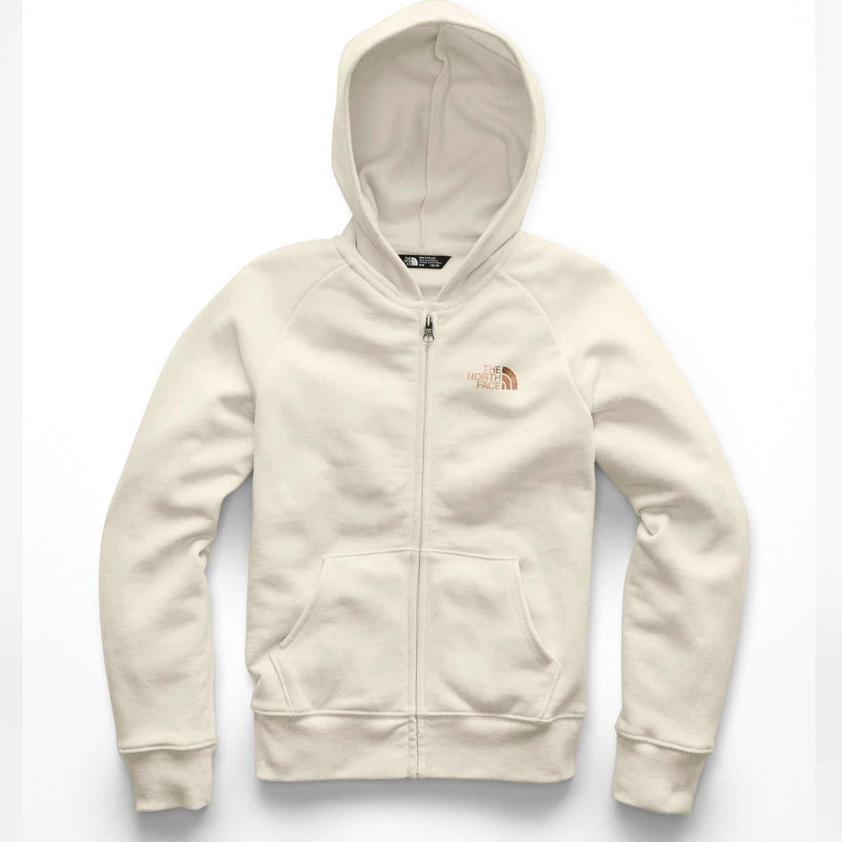 Girls' The North Face | Logowear Full-Zip Hoodie | Antique White
