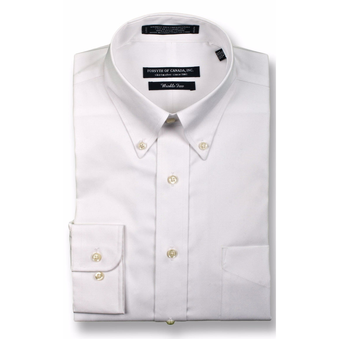 FORSYTH OF CANADA™ - THE FREEDOM SHIRT™ - LUXURY 2 PLY COTTON - BUTTON DOWN COLLAR - 539MAIN - 1