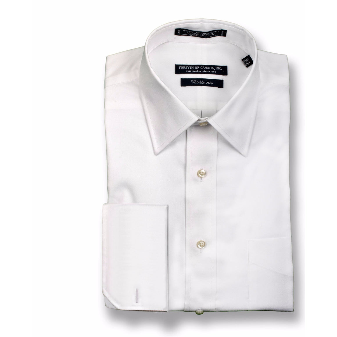 FORSYTH OF CANADA™ - THE FREEDOM SHIRT™ -  LUXURY 2 PLY COTTON - FRENCH CUFF - 539MAIN - 1