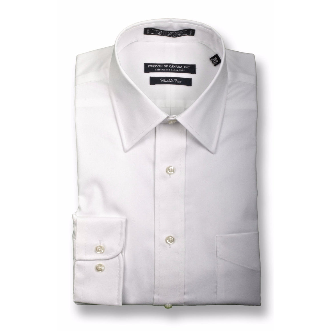 FORSYTH OF CANADA™ - THE FREEDOM SHIRT™ -  LUXURY 2 PLY COTTON - LAY DOWN COLLAR - 539MAIN - 1