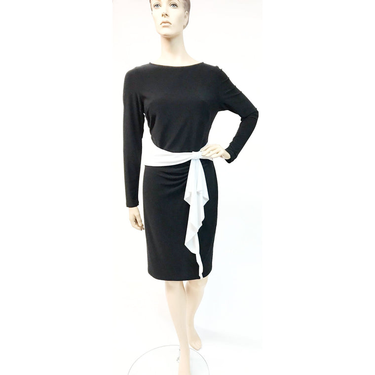 e4ee8f76528 153014 Long Sleeve Dress with Vanilla Bow Accent