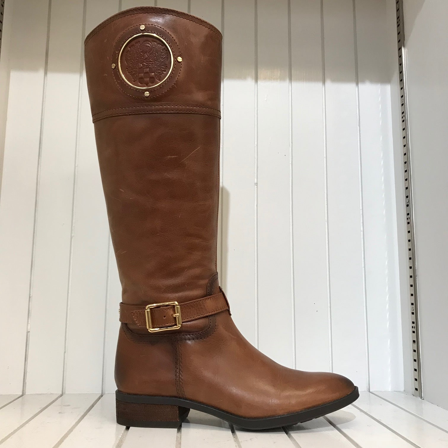Women's Vince Camuto | Phillie Tall Leather Riding Boot | Golden Brown