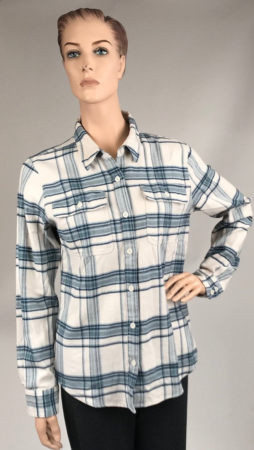 0fd5b1c0 Women's Patagonia | Long Sleeve Fjord Flannel Shirt | Birch White ...