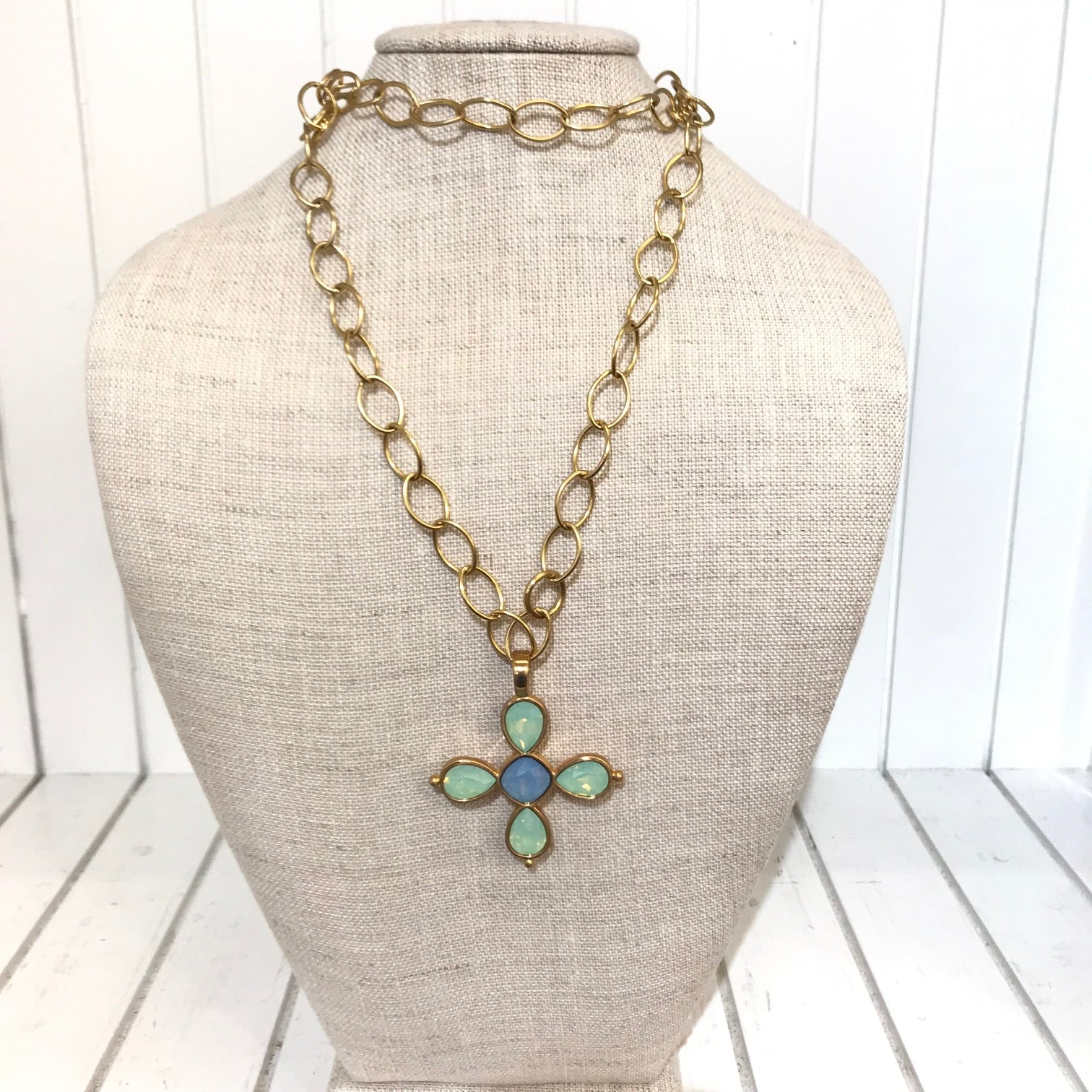 Women's Brighton | Versailles Mercury Long Necklace | Mint Green