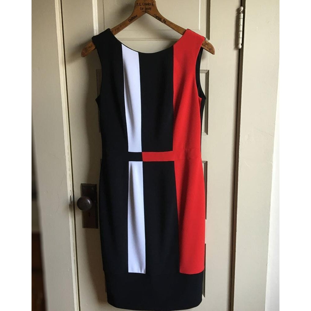 Joseph ribkoff colorblock dress
