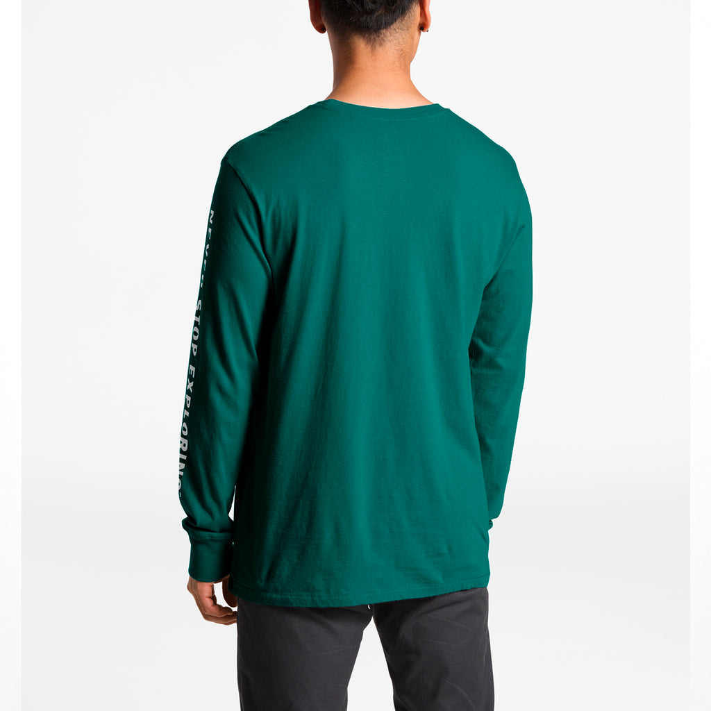 d3b014e07 Men's The North Face | Long Sleeve Well Loved Half Dome Tee | Everglade