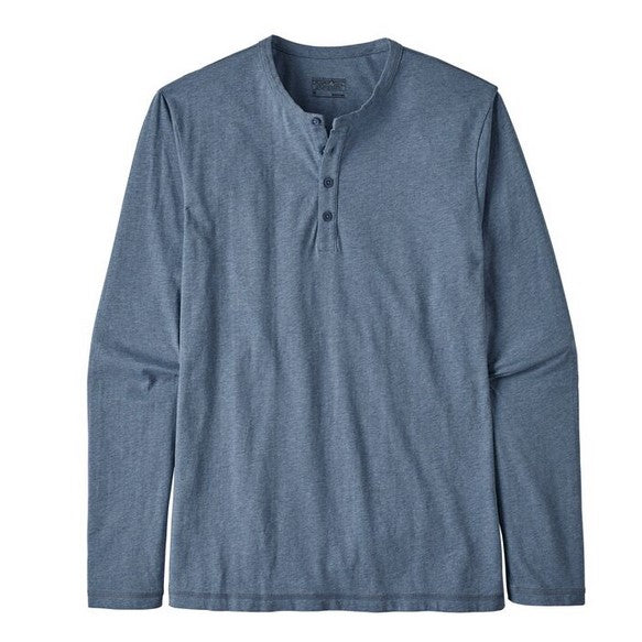 Men's Patagonia   Long-Sleeved Daily Henley   Wolly Blue