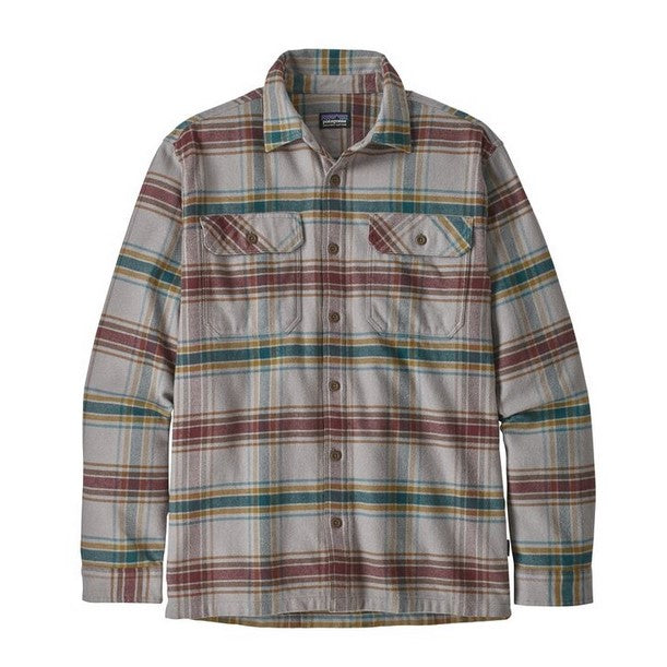 Men's Patagonia   Long-Sleeved Fjord Flannel Shirt    Defender; Feather Grey