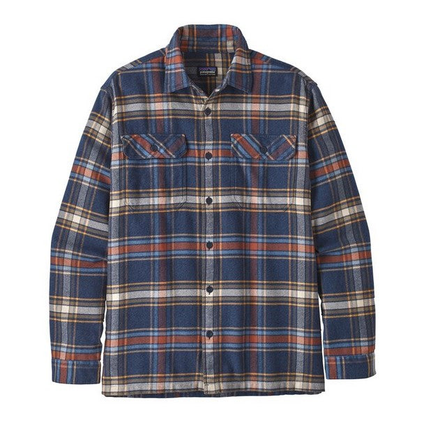 Men's Patagonia | Long-Sleeved Fjord Flannel Shirt  | Defender: New Navy