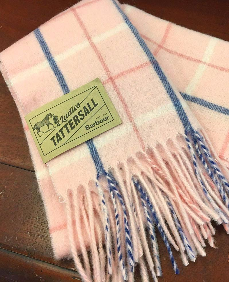 Women's Barbour | Country Tattersall Scarf | Pink Plaid
