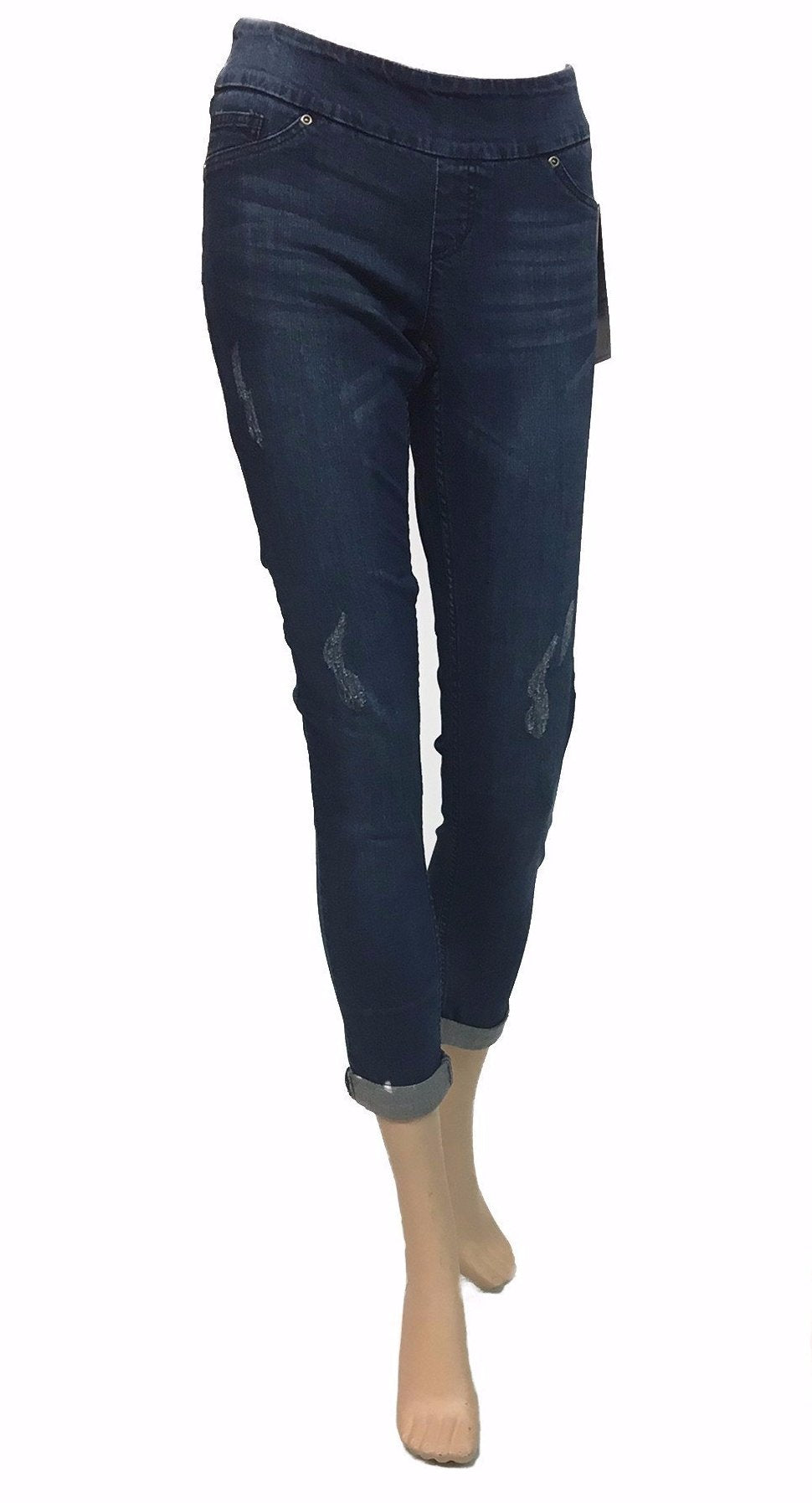 Women's Up! Pants | Up! Techno Skinny Blue Jean Pull-On Pant | Denim