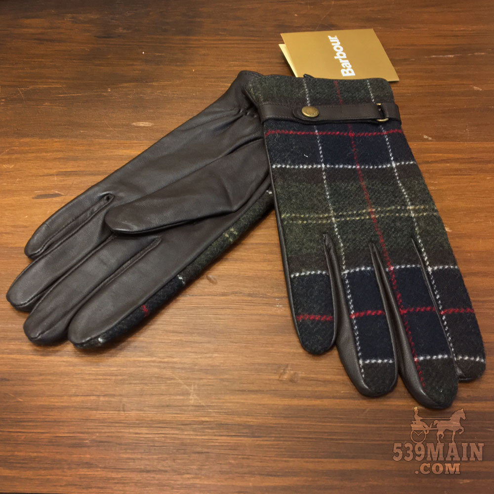 Women's Barbour | Tartan and Leather Glove | Brown/Classic Tartan