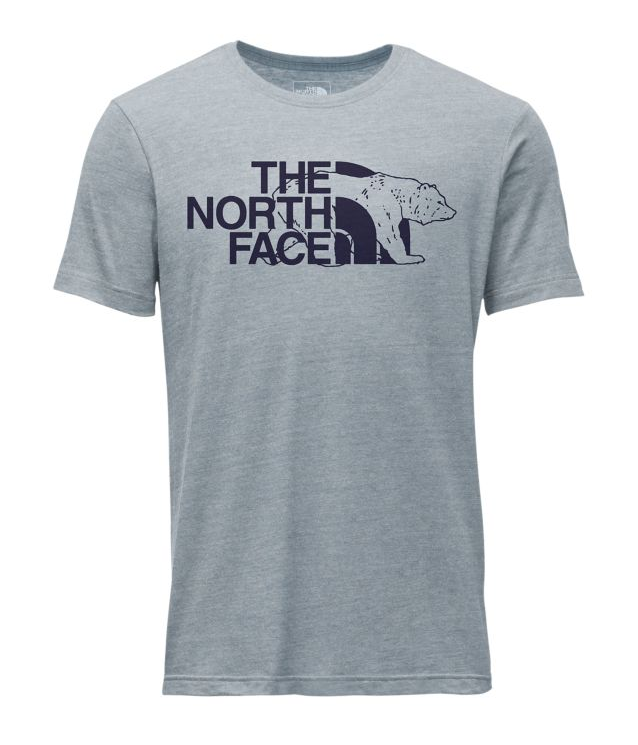 Men's The North Face | Mascot Tri-Blend Tee | Dusty Blue Heather