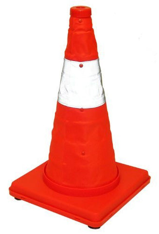 Eurow Safety Lighted Collapsible Traffic Safety Cone 17""
