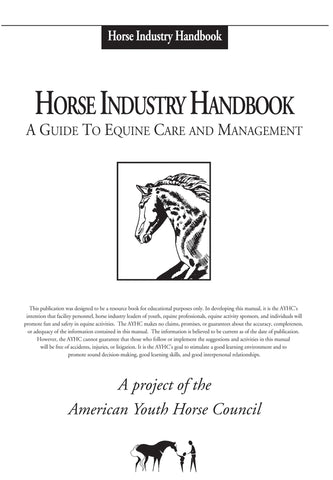 AYHC Horse Industry Handbook with binder