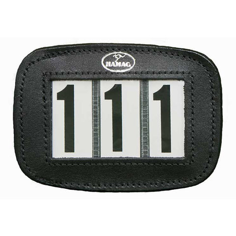 Bridle Number Holder, Black, Plain, with Hook