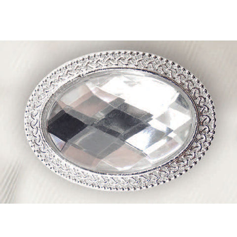 Oval Crystal Magnetic Stock Pin