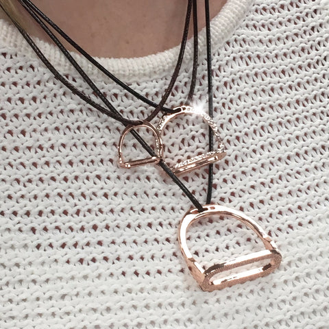 Stirrup 3-in-1 Necklace- Rose Gold