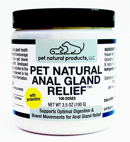 Pet Natural Products Anal Gland Relief for Dogs and Cats
