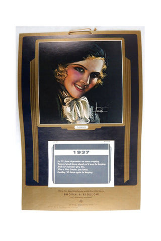 Vintage Rolf Armstrong Florence 1982 2021  Pin Up Historical Date Calendar