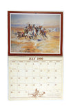 Vintage 1990 2018 Charles M Russell Western Art Appointment Calendar
