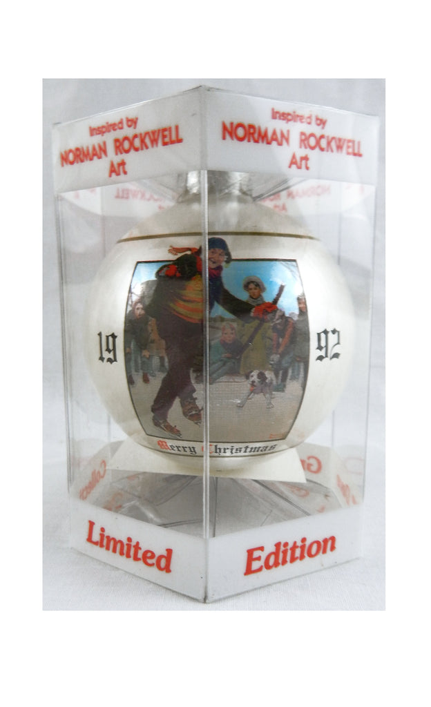 Vintage 1992 Limited Edition Norman Rockwell Gay Blades Christmas Ornament