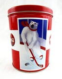 Vintage 1994 Coke Coca Cola Polar Bears Winter Sports Round Tin