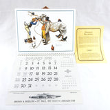 Limited Edition 1995 2023 Norman Rockwell The Horse Trader Vacuum Form Calendar