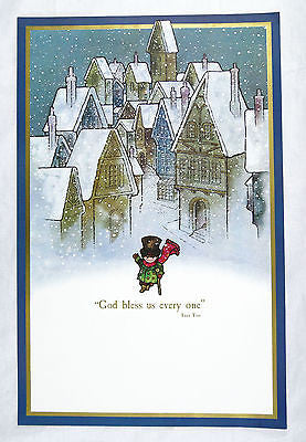 Vintage 1970's A Christmas Carol Tiny Tim God Bless Us Every One Print