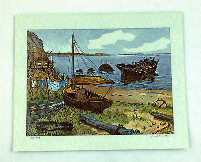 Vintage 1970's Lionel Barrymore Rocky Point Misprint Foil Etch Print