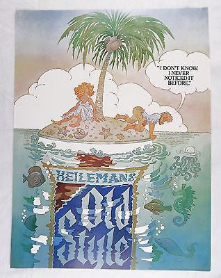 1982 Heileman's Old Style Beer I Don't Know I Never Noticed It Before Poster