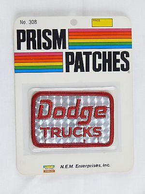Vintage 1970's Dodge Trucks Reflective Prism Patch Factory Sealed