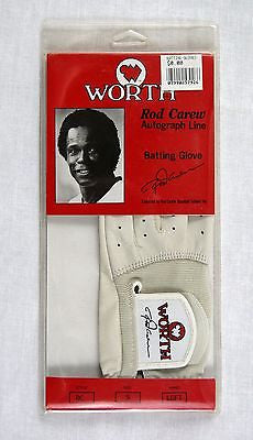 Vintage 1980's Worth Rod Carew Autograph Line Batting Glove