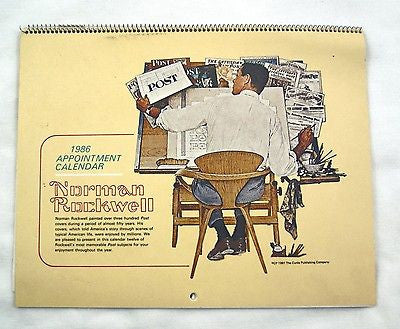 Vintage 1986 2025 Norman Rockwell Appointment Calendar