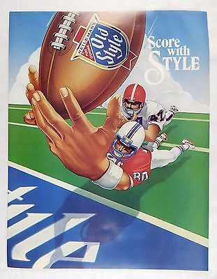 Vintage 1982 Heileman's Old Style Beer Score With Style Football Poster