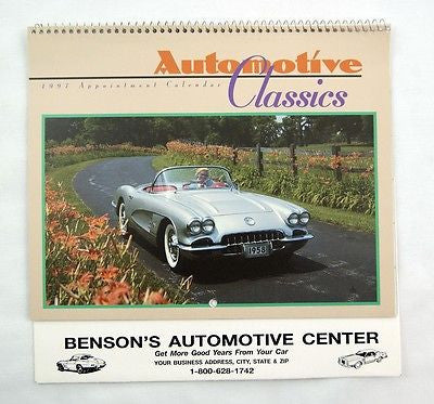 1997 2025 Automotive Classics Classic Cars Appointment Calendar