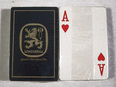 Vintage 1970's Lowenbrau Beer Blue Playing Cards Deck