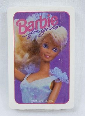 Vintage 1992 Mattel Barbie For Girls Playing Cards