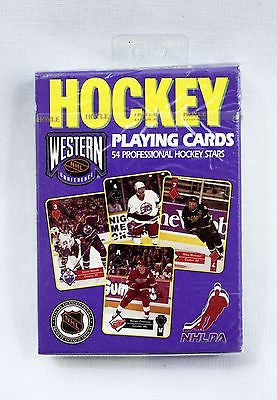 NHL Hockey 1995-96 Western Conference Playing Cards