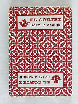 Vintage El Cortez Hotel and Casino PGC Brand Red Poker Size Playing Cards