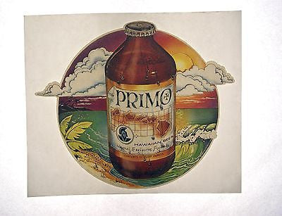 Vintage 1970's Primo Hawaiian Beer Iron On T Shirt Transfer