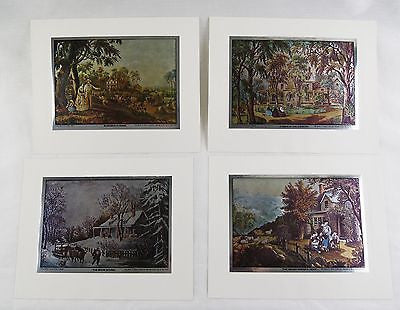 Vintage Currier and Ives Nostalgic America Foil Etch Print Set 246-120