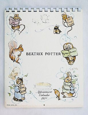 Vintage 1975 2025 Beatrix Potter Appointment Calendar