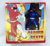 Vintage 1994 Blue Ranger Skate Battery Operated Skateboard Action Figure