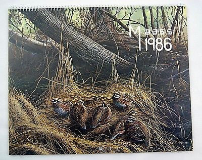 Vintage 1986 2025 Brown and Bigelow Hoyle David Maass Calendar 1
