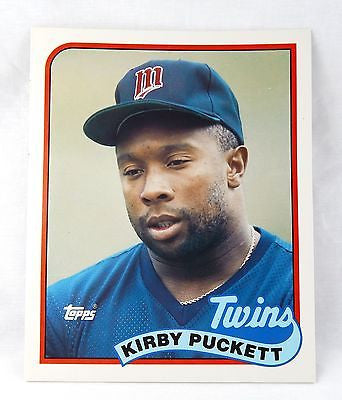 Vintage 1989 Kirby Puckett Minnesota Twins Topps Baseball Card Folder