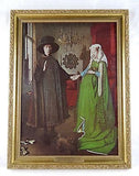Jan Van Eyck Arnolfini Portrait - Portrait of Giovanni Framed Canvas Print