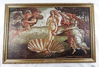 Vintage Sandro Botticelli Birth of Venus Framed Canvas Print