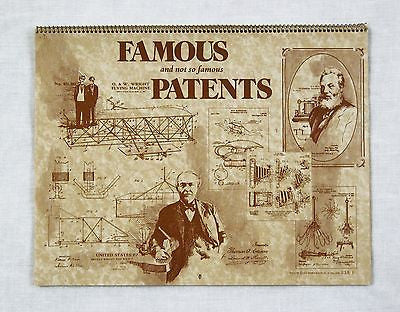 Vintage 1981 2026 Famous and Not So Famous Patents Calendar
